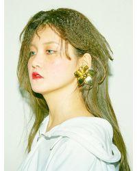 BABY CENTAUR - Metallic Wind Flower Earring [silver, Gold] - Lyst