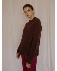 AMONG - Brown [bf] A Cable Knit - Lyst