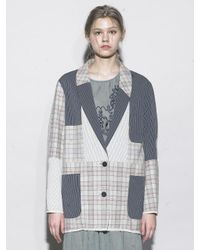 OUAHSOMMET - Multicolor Multi-patch Cardigan Jacket - Lyst
