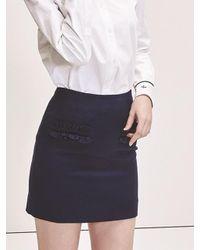 Blanc & Eclare - Blue Syd Skirt - Lyst