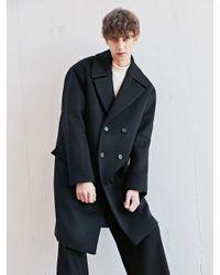BONNIE&BLANCHE - Moment Double Overfit Coat Black for Men - Lyst