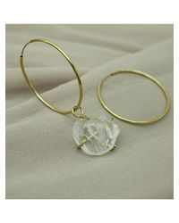 1064STUDIO - Metallic Clear Hoop E - Lyst