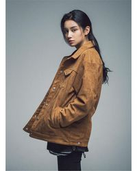 SAINTPAIN - [unisex] Sp Leyton Suede Work Jacket Brown - Lyst