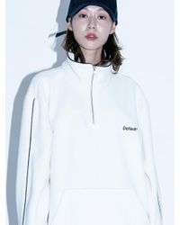 W Concept - [unisex]nmps Half Zip Up Fleece White - Lyst