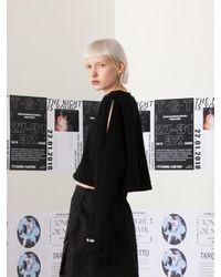 TARGETTO - Slit Crop Sweatshirt Black - Lyst