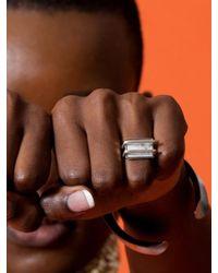 W Concept - Multicolor Simple Square Ring 4 - Lyst