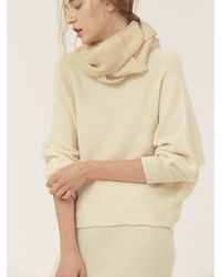 LE CASHMERE - White Opened Back Pullover - Lyst