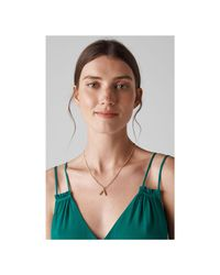 Whistles - Metallic Made Curve Pendant Necklace - Lyst
