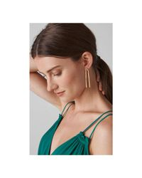 Whistles - Metallic Made Curve Drop Stud Earring - Lyst