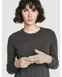 White + Warren - Gray Cashmere Two Way Angled Topper - Lyst