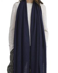 White + Warren - Blue Cashmere Wrap Scarf - Lyst