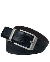 Wilsons Leather - Black Kenneth Cole Textured Reversible Belt for Men - Lyst