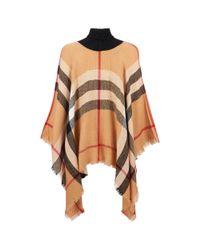 Wilsons Leather - Multicolor Sylvia Alexander Large Plaid Turtleneck Poncho - Lyst