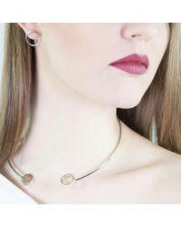 ANUKA Jewellery - Metallic Amati Silver Collar Necklace - Lyst