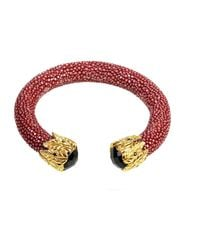 Latelita London | Multicolor Stingray Bangle Garnet Red With Black Onyx | Lyst