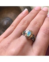 Emma Chapman Jewels - White Stella Mary Moonstone Ring - Lyst