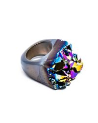 Tiana Jewel - Ember Metallic Blue Ring Moro Collection - Lyst