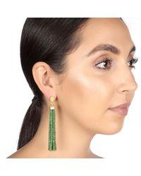 Carousel Jewels - Green Gold & Emerald Waterfall Earrings - Lyst