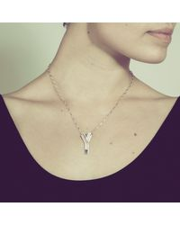 Yasmin Everley Jewellery | Metallic Saxony Y Initial Necklace | Lyst