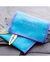 Azuni London - Metallic Nacona Narrow Bangle In Mountain for Men - Lyst
