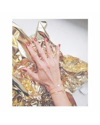 Tadam! Design - Mat Silver Heart Memory Bracelet Olive Green - Lyst
