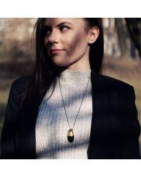KAMENA JEWELLERY - Metallic Hewed Big Necklace With Black Oak Brass - Lyst