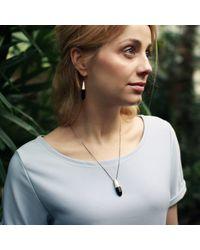 KAMENA JEWELLERY - Metallic Hewed Earrings With Black Oak Silver - Lyst