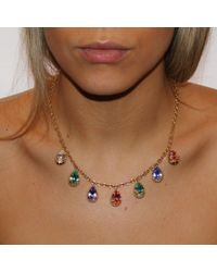 Alexander Quin London - Multicolor Antique Style Georgian Rock Crystal Necklace - Lyst