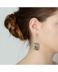 Tada & Toy - Metallic Aerial Earth Drops Earrings Rose Gold - Lyst