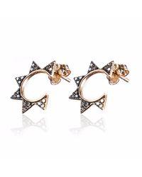 Sadekar Jewellery - Multicolor Gear Single Earring Rose Gold - Lyst