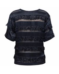 Doriane Van Overeem - Blue Nancy Navy Fringe Top - Lyst
