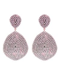 Latelita London - Monte Carlo Earring Rosegold Light Pink - Lyst