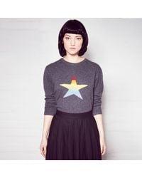 Orwell + Austen Cashmere | Gray Stars & Stripes Rainbow Cashmere Sweater | Lyst