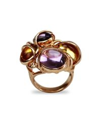 Bellus Domina - Multicolor Amethyst & Citrine Four Islands Ring - Lyst