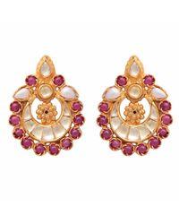Carousel Jewels - White Pink & Pearl Heritage Earrings - Lyst