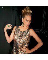 Latelita London - Multicolor Gold Triple Drop Earring Green Onyx - Lyst