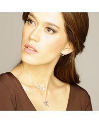 Cosanuova - Metallic Star Fish Sapphire Necklace 18k White Gold - Lyst