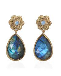 Emma Chapman Jewels - Gray Adila Labradorite Earrings - Lyst
