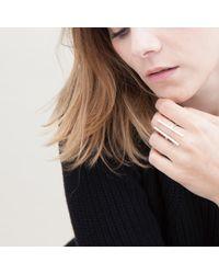Nina Kastens Jewelry - Metallic Initial Ring Silver - Lyst