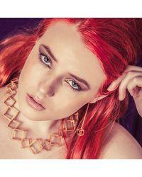 Stephanie Bates - Metallic Gold Cube Drop Earrings - Lyst