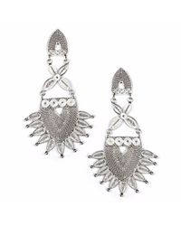 Kitik Jewelry - Metallic Sinchi Silver Earrings - Lyst
