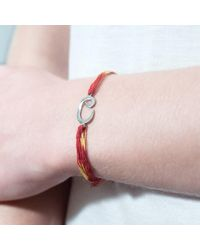 Tada & Toy - Red Indian Wish Bracelet Rose Gold - Lyst