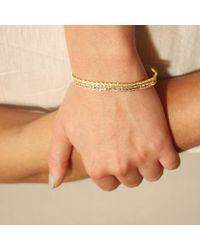 Tada & Toy - Metallic Spiny Lizard Chain Bracelet Rose Gold - Lyst
