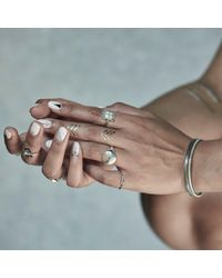 No 13 - Metallic Sagittarius Constellation Signet Ring Diamonds & Oxidized Silver - Lyst