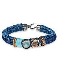 Platadepalo - Blue Classic Denim & Chalcedony Bracelet - Lyst