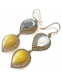 Meghna Jewels - Metallic Double Drop Polki Earrings - Lyst