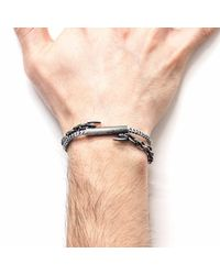 Anchor & Crew - White Noir Belfast Rope Bracelet for Men - Lyst
