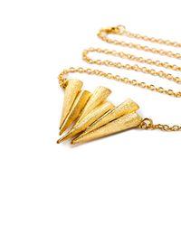 Ona Chan   Metallic Six Daggar Necklace Gold   Lyst