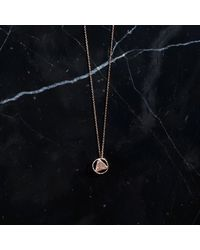 KIND Jewellery - Metallic Rose Gold Mini Elements Disc Necklace - Lyst