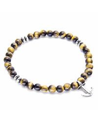 Anchor & Crew | Brown Tigers Eye Starboard Silver & Stone Bracelet for Men | Lyst